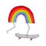 Tatuaggi per bambini arcobaleno